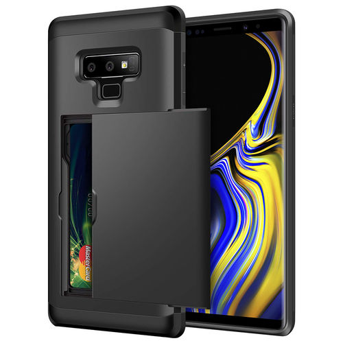 Tough Armour Card Holder Slide Case for Samsung Galaxy Note 9 - Black